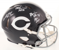 Brian Urlacher, Dick Butkus & Mike Singletary Signed Bears Full-Size Authentic On-Field Speed Helmet with Inscriptions (Beckett COA) at PristineAuction.com