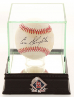 Enos Slaughter Signed OL Baseball with Display Case (PSA COA) at PristineAuction.com