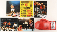 Lot of (5) Boxing Greats Items With (1) Pernell Whitaker Signed 8x10 Photo, (4) Earnie Shavers Signed 8x10 Photos & (1) Earnie Shavers Signed Everlast Boxing Glove with Muhammad Ali Inscriptions (Shavers Hologram & MAB Hologram) at PristineAuction.com