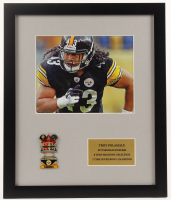 Troy Polamalu Steelers 16x19 Custom Framed Photo Display with Super Bowl XL Champions Pin at PristineAuction.com