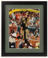 Drew Brees Signed Saints 16x19 Custom Framed Photo Display (PSA COA) at PristineAuction.com