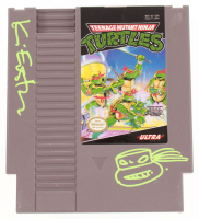 Kevin Eastman Signed Original 1989 Teenage Mutant Ninja Turtles Nintendo NES Video Game Cartridge with Hand-Drawn Turtle Sketch (JSA COA) at PristineAuction.com