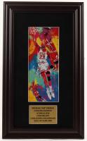 "LeRoy Neiman ""Michael Jordan"" 10.5x17.5 Custom Framed Print Display at PristineAuction.com"