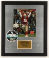 Joe Montana Signed 16x19 Custom Framed Photo Display with Super Bowl XVI Patch (Steiner COA) at PristineAuction.com