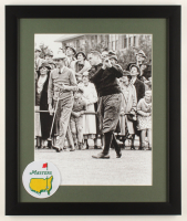 Bobby Jones 16x19 Custom Framed Photo Display with Official Masters Pin at PristineAuction.com