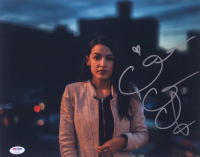 Alexandria Ocasio-Cortez Signed 11x14 Photo (PSA Hologram) at PristineAuction.com