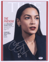 "Alexandria Ocasio-Cortez Signed 11x14 Photo Inscribed ""BX"" (PSA Hologram) at PristineAuction.com"