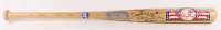 Yankees Hall of Famers 100th Anniversary Logo Cooperstown Baseball Bat Signed by (4) with Yogi Berra, Phil Rizzuto, Whitey Ford, & Reggie Jackson (PSA LOA) at PristineAuction.com