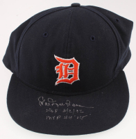 """Hal Newhouser Signed Tigers Fitted Baseball Hat Inscribed """"HOF 8/2/1992"""" & """"MVP 44 WS"""" (Beckett COA) at PristineAuction.com"""