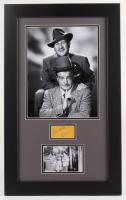 Bud Abbott & Lou Costello Signed 17x28 Custom Framed Cut Display (JSA LOA) at PristineAuction.com