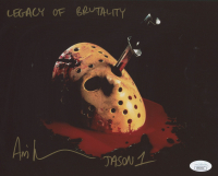 "Ari Lehman Signed ""Friday the 13th"" 8x10 Photo Inscribed ""Jason 1"", ""Legacy of Brutality"" (JSA Hologram) at PristineAuction.com"