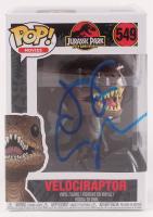 "Jeff Goldblum Signed ""Jurassic Park"" Velociraptor #549 25th Anniversary Funko Pop! Vinyl Figure (PSA COA) at PristineAuction.com"