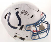 Jacoby Brissett Signed Colts Full-Size Authentic On-Field Hydro Dipped SpeedFlex Youth Helmet (JSA COA) at PristineAuction.com
