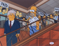 "Donald Trump Signed ""The Simpsons"" 11x14 Photo (PSA LOA) at PristineAuction.com"