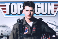 "Tom Cruise Signed ""Top Gun"" 12x18 Photo (PSA COA) at PristineAuction.com"