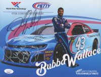 Richard Petty & Bubba Wallace Signed NASCAR 8.5x11 Print (JSA COA) at PristineAuction.com