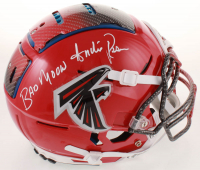 """Andre Rison Signed Falcons Full-Size Authentic On-Field Hydro Dipped F7 Helmet Inscribed """"Bad Moon"""" (Beckett COA) at PristineAuction.com"""