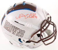 Nick Chubb Signed Browns Full-Size Authentic On-Field Hydro Dipped F7 Helmet (JSA COA) at PristineAuction.com