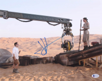 """J.J. Abrams & Daisy Ridley Signed """"Star Wars: The Force Awakens"""" 11x14 Photo (Beckett Hologram) at PristineAuction.com"""
