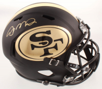 Joe Montana Signed 49ers Full Size Matte Black Speed Helmet (JSA COA) at PristineAuction.com