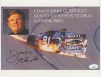 Jerry Glanville Signed NASCAR 8x10 Print (JSA COA) at PristineAuction.com