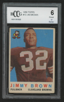 Jim Brown 1959 Topps #10 (BCCG 6) at PristineAuction.com