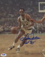 "Sam Jones Signed Celtics 8x10 Photo Inscribed ""HOF 83"" (PSA COA) at PristineAuction.com"