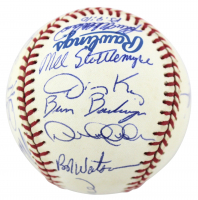1996 Yankees OAL Baseball Team-Signed by (20) with Derek Jeter, Joe Torre, Wade Boggs, Mariano Rivera (Beckett LOA) at PristineAuction.com