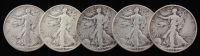 Lot of (5) 1939-1944 Walking Liberty Silver Half Dollars at PristineAuction.com