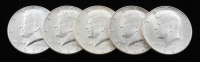 Lot of (5) 1964 Kennedy Half Dollar at PristineAuction.com