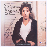 "Bruce Springsteen Signed ""Darkness on the Edge of Town"" Vinyl Record Album Cover (PSA Hologram) at PristineAuction.com"