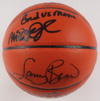 "Larry Bird & Magic Johnson Signed NBA Game Ball Series Basketball Inscribed ""Bird vs Magic"" (JSA COA) at PristineAuction.com"