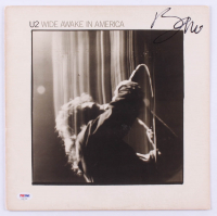 "Bono Signed U2 ""Wide Awake in America"" Vinyl Record Album Cover (PSA Hologram) at PristineAuction.com"