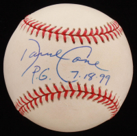 "David Cone Signed OAL Baseball Inscribed ""P.G. 7.18.99"" (Beckett COA & Wish You Were Here Hologram) at PristineAuction.com"