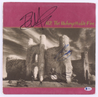 "Bono, Adam Clayton & The Edge Signed U2 ""The Unforgettable Fire"" Vinyl Record Album Cover (Beckett Hologram) at PristineAuction.com"