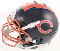 """Brian Urlacher Signed Bears Full-Size Authentic On-Field Hydro-Dipped F7 Helmet Inscribed """"HOF 2018"""" (Beckett COA) at PristineAuction.com"""