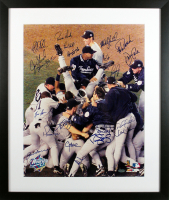 1998 Yankees 22x26 Custom Framed Photo Display Team-Signed by (21) with Derek Jeter, Mariano Rivera, Joe Torre, Joe Girardi (Beckett LOA) at PristineAuction.com