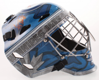Connor Hellebuyck Signed Jets Full-Size Goalie Mask (JSA Hologram) at PristineAuction.com