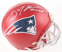 "Julian Edelman Signed Patriots Full-Size Matte Red Authentic On-Field Helmet Inscribed ""SB LIII MVP"" (Beckett COA) at PristineAuction.com"