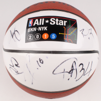2015 NBA All-Star Logo Basketball Signed by (9) with Giannis Antetokounmpo, Paul Milsap, Pau Gasol (JSA COA) at PristineAuction.com