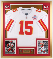 Patrick Mahomes Chiefs 32x36 Custom Framed Jersey Display with (2) Pins at PristineAuction.com
