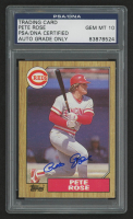 Pete Rose Signed 1987 Topps #200 (PSA Encapsulated) at PristineAuction.com