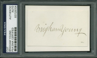 Brigham Young Signed Cut (PSA Encapsulated) at PristineAuction.com