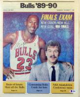 Michael Jordan Signed 1989 Chicago Sun-Times Sports Insert (Beckett LOA) at PristineAuction.com