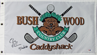 "Chevy Chase Signed ""Caddyshack"" Bushwood Country Club Pin Flag Inscribed ""Ty Webb"" (PSA COA) at PristineAuction.com"