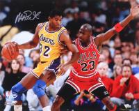 Magic Johnson Signed Lakers 16x20 Photo (Fanatics Hologram) at PristineAuction.com