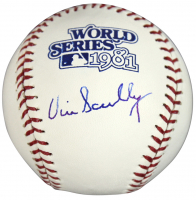 Vin Scully Signed 1981 World Series Baseball (Beckett COA) at PristineAuction.com