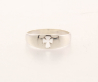 Sterling Silver Cross Band Ring-SZ 10 at PristineAuction.com