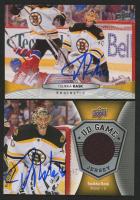 Lot of (2) Tuukka Rask Signed Hockey Cards with 2016-17 Upper Deck Game Jerseys #GJTR & 2011-12 Upper Deck #436 (Rask Hologram) at PristineAuction.com