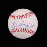 "Nolan Ryan Signed OML Baseball Inscribed ""7 No Hitters"" (AIV COA) at PristineAuction.com"